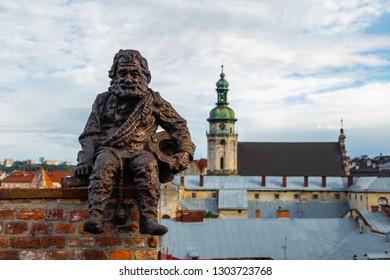 Lviv, Ukraine - June 24, 2018: Monument to sweep in Lviv