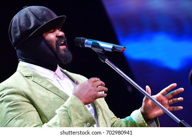 LVIV, UKRAINE - JUNE 26, 2017: GREGORY PORTER (American singer, songwriter, and actor) performed at the jazz festival Alfa Jazz Fest on June 26, 2017 in Lviv, Ukraine