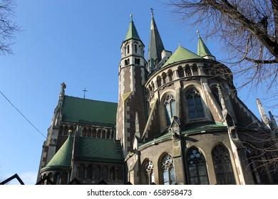 Lviv, Ukraine - June 5: Church of St. Mary and Elzhbety, on June 5, 2016 in Lviv, Ukraine.