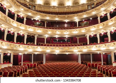 Lviv, Ukraine - March 17, 2019: Lviv opera house interior