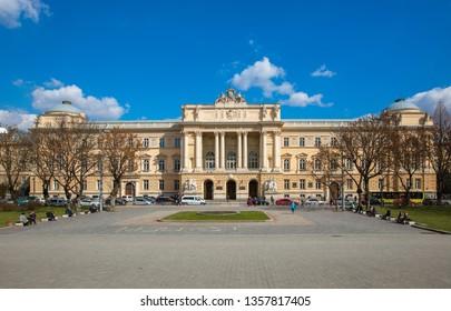 Lviv, Ukraine - March 20, 2019: Ivan Franko National University of Lviv.