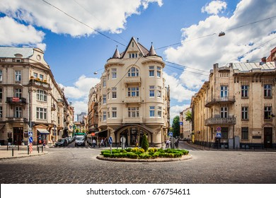 LVIV, UKRAINE - MAY 20, 2017: Hotel in Lviv