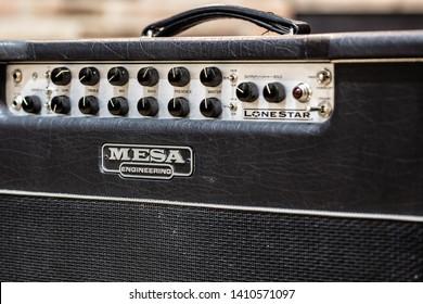 Lviv, Ukraine - May 25, 2019: medium-power tube amplifier Mesa Boogie Lone Star 1x12 Combo