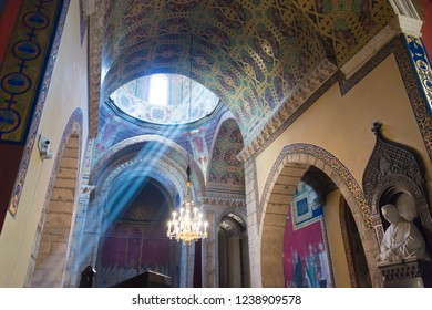 Lviv, Ukraine - May 26 2018- Armenian Cathedral at Old City of Lviv in Lviv, Ukraine. It is part of the World Heritage Site - L'viv - the Ensemble of the Historic Centre.