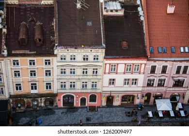 Lviv, Ukraine - May 5, 2017: view from Lviv City hall