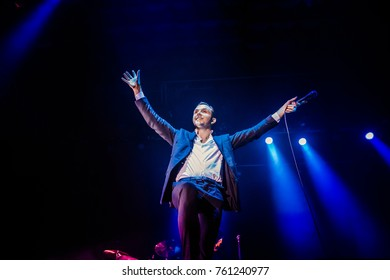 Lviv, Ukraine - November 22, 2017: Hurts concert , The Desire Tour