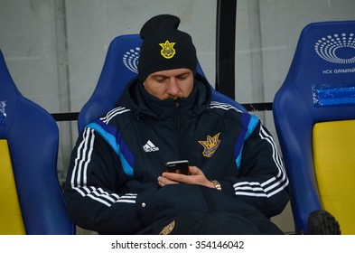 LVIV, UKRAINE - OCT 12: Seleznyov before the UEFA EURO 2016 qualifying match national team of Ukraine vs Spain, 12 October 2015, Olympic NSC, Kiev, Ukraine