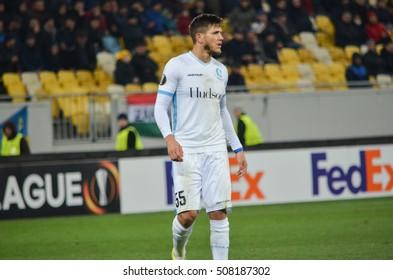 LVIV, UKRAINE - OCT 20: Rami Gershon in action during the UEFA Europa League match between Shakhtar Donetsk vs KAA Gent (Belgium), 20 October 2016, Arena Lviv, Ukraine