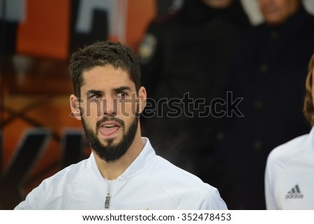 LVIV, UKRAINE - OCT 25: Isco in action during the UEFA Champions League match between Shakhtar vs Real Madrid, 25 October 2015, Arena Lviv, Ukraine