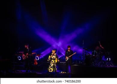 Lviv, Ukraine - October 20, 2017: Patricia Kaas concert in Lviv
