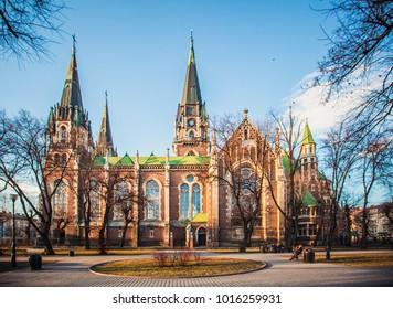 Lviv, Ukraine - October 7, 2017: St. Elizabeth chrch in Lviv