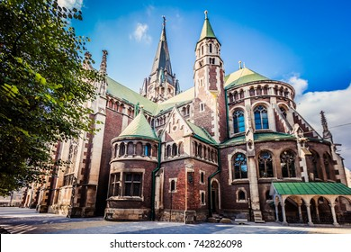 Lviv, Ukraine - October 7, 2017: St. Elizabeth chrch in Lviv