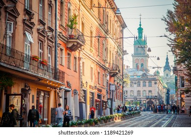 Lviv, Ukraine - September 21, 2018:Lviv city view