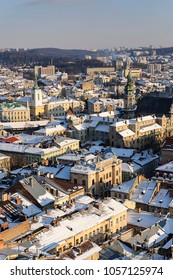 Lvov roofs in the city centre