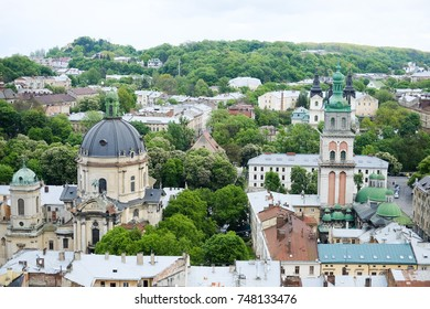 Lvov in the summer, Lvov view from a bird's flight