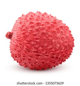 lychee, clipping path, isolated on white background, full depth of field