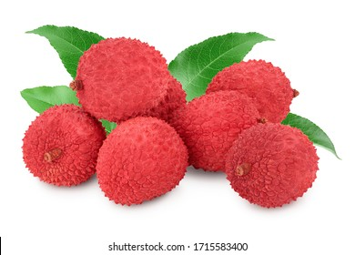 lychee fruit isolated on white background with clipping path and full depth of field