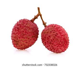 lychee isolated on white background