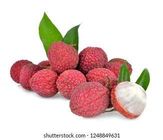 Lychee on a white background