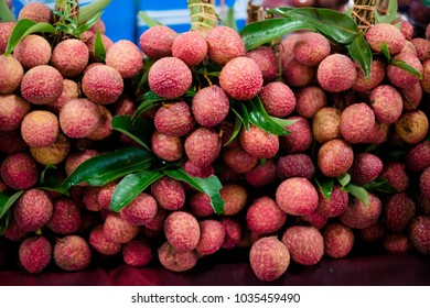 Lychee is sold at the market