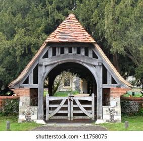 Lychgate entrance to an English Village Church