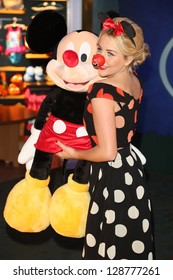 Lydia Bright aka Lydia Rose Bright at Volunt-ears with Mickey Mouse at Disney Store for Red Nose day, London. 14/02/2013 Picture by: Henry Harris