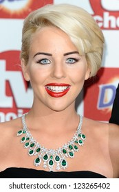 Lydia Bright arriving for the 2012 TVChoice Awards, at the Dorchester Hotel, London. 10/09/2012. Picture by:  Steve Vas