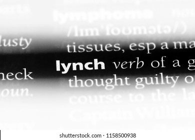 lynch word in a dictionary. lynch concept.