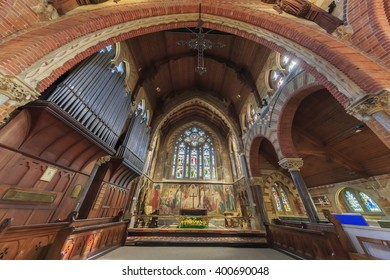 Lyndhurst, APR 2: Traveling in the The church of Saint Michael and all angels at Lyndhurst on APR 2, 2016
