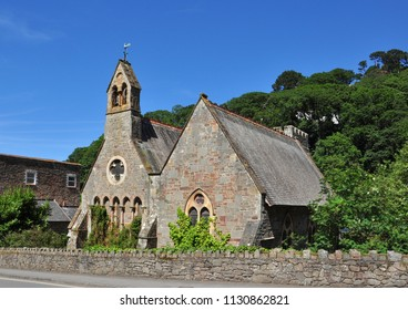 LYNMOUTH, DEVON/UK - June 22, 2018. Church of St John the Baptist, Lynmouth, North Devon, England