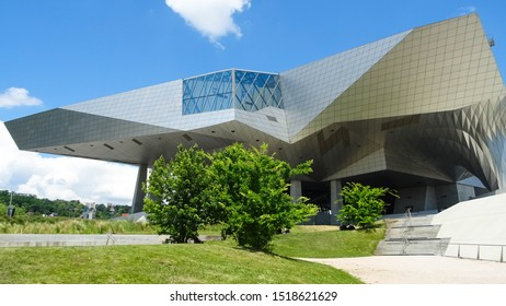 Lyon / France - 05 25 2019: Musée des Confluences (Confluence Museum), science and art exhibition center built in deconstructist style, located in city of Lyon, Isere departement, France, Europe