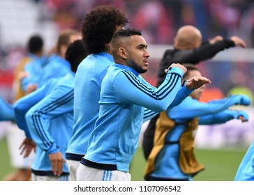 LYON, FRANCE - 16 MAY, 2018: Dimitri Payet pictured prior to the UEFA Europa League Final between Olympique de Marseille and Atletico de Madrid at Stade de Lyon.