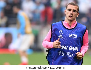 LYON, FRANCE - 16 MAY, 2018: Antoine Griezmann pictured prior to the UEFA Europa League Final between Olympique de Marseille and Atletico de Madrid at Stade de Lyon.