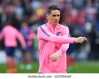 LYON, FRANCE - 16 MAY, 2018: Fernando Torres pictured prior to the UEFA Europa League Final between Olympique de Marseille and Atletico de Madrid at Stade de Lyon.