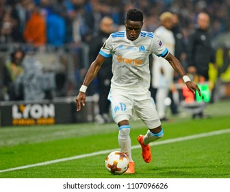LYON, FRANCE - 16 MAY, 2018: Bouna Sarr pictured during the UEFA Europa League Final between Olympique de Marseille and Atletico de Madrid at Stade de Lyon.