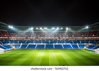 Lyon, France -29 novembre 2016 :  Groupama Stadium - Olympique Lyonnais