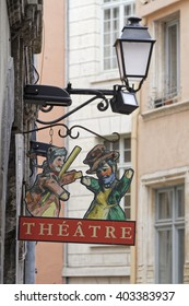 LYON, FRANCE, April 9, 2016 : Guignol is the main character in a French puppet show which has come to bear his name. It represents the workers in the silk industry
