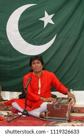 LYON, FRANCE, June 23, 2018 : Musician from Pakistan. The Fetes Consulaires stand on Place Bellecour around animations, traditional songs, dances, exhibitions prepared by more than 50 consulates.