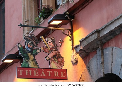 LYON, FRANCE, NOVEMBER 1, 2014 : Guignol Theater. 200 years after creation, original spirit of the puppet show survives in Lyon, where traditional performances are an integral part of local culture.