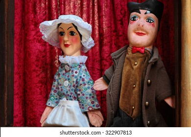 LYON, FRANCE, September 27, 2015 : Guignol is the main character in a puppet show which has come to bear his name (Theater of Guignol). It represents the workers in the silk industry of Lyon.