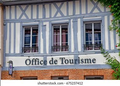 Lyons la Foret, France - june 29 2017 : tourism office of Lyons la Foret in Normandie