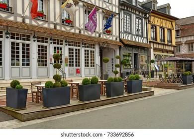 Lyons la Foret, France - june 29 2017 : the picturesque village of Lyons la Foret in Normandie