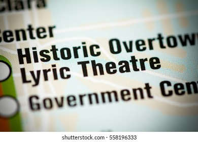 Lyric Theatre Station. Miami Metro map.