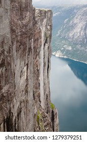 The Lysefjord from the cliffs of Kjerag. Norway