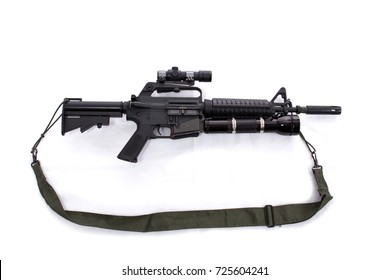 M16 automatic rifle on a white background