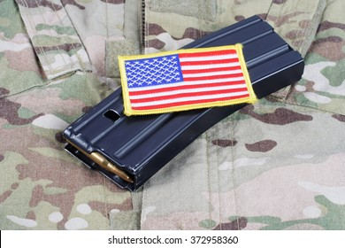 M-16 magazine with ammo on US Army uniform
