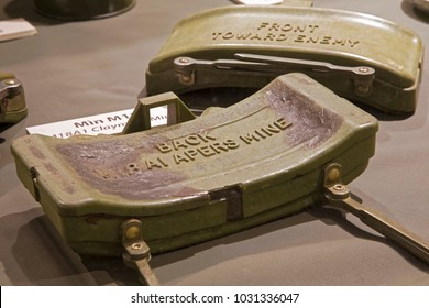 M18 Claymore mines on display in the War Remnants Museum in Ho Chi Minh City Vietnam