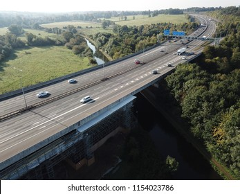 M25 motorway drone view
