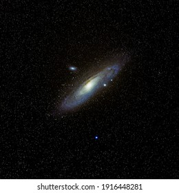 M31 Andromeda galaxy is a spiral galaxy, also known as Messier 31 or NGC 224. Photograph obtained by astro photography process with 95 Lights in total 31.6 min of exposure, 40 Darks.