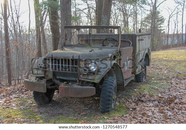 M37 Dodge Power Wagon Rusted Old Stock Photo (Edit Now) 1270548577